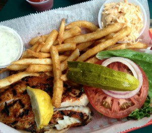 Blackened grouper sandwich a la Rusty's